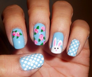 nails, easter, and blue image