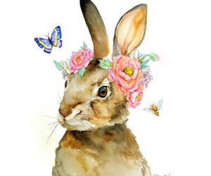 bunny, rabbit, and spring image