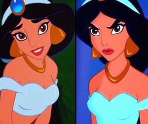 funny, jasmine, and face image