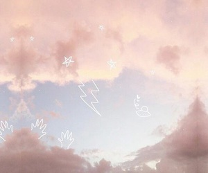 header, pink, and stars image