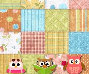 owls and wallpaper image