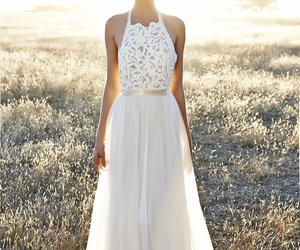 beautiful, boho, and bride image