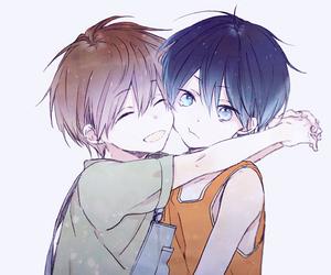 boy, haruka nanase, and hug image