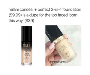 too faced and milani image
