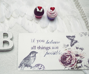 cupcake, believe, and pearls image