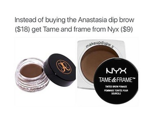makeup, NYX, and dupes image