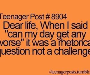 teenager post, challenge, and life image