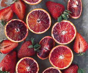fruit, red, and strawberry image