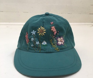cap, green, and flower image