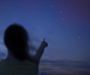 stars, girl, and night image