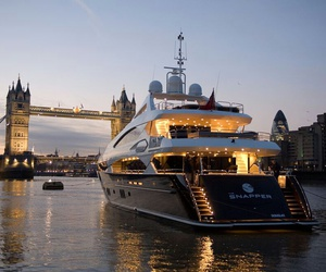 london, luxury, and yacht image