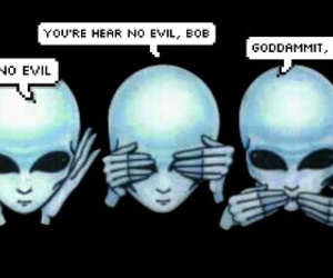 aliens, black, and blue image