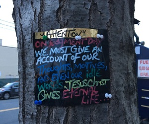 attention, tree, and Christ image