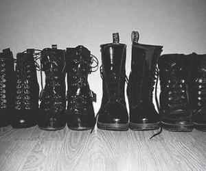boots, black, and shoes image