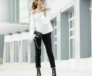 black and white, style, and ootd image