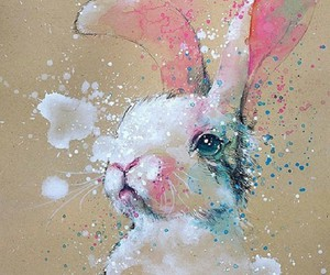 art, rabbit, and bunny image