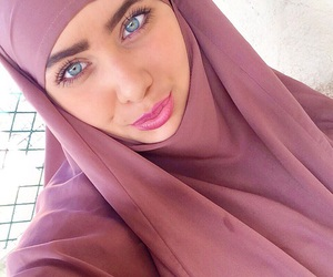 eyes, muslim, and hijab image