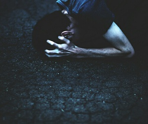 boy, dark, and hands image