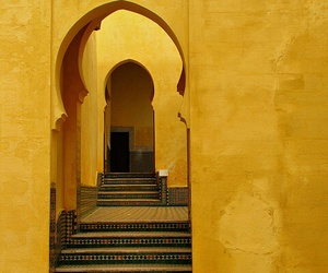 yellow, morocco, and architecture image