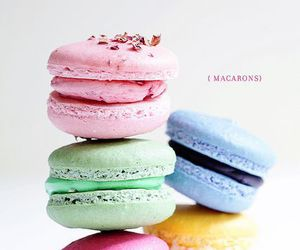 sweet, macaroons, and pastel image