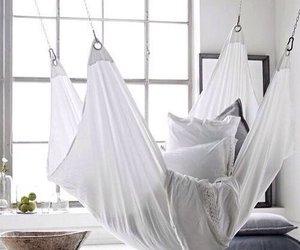 interior, white, and hammock image