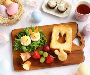 bunny, easter, and food image