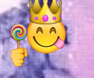 crown, hand, and lollipop image