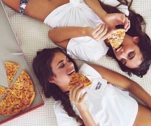 best friends, love, and food image