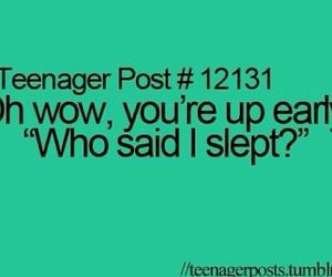 sleep, funny, and teenager post image