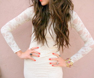 white, brunette, and fashion image