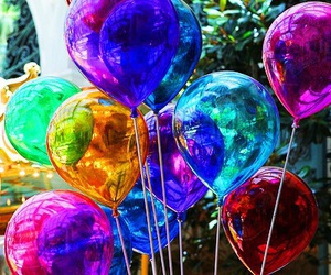 balloon, colorful, and colors image