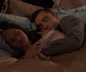 bed, couple, and blair image