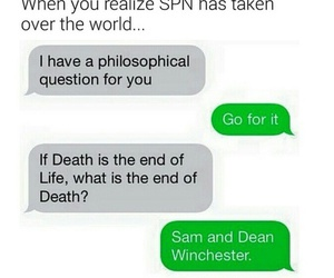 supernatural, dean winchester, and death image