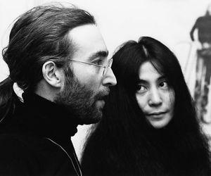 john lennon, Yoko Ono, and couple image