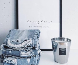 jeans, blue, and white image