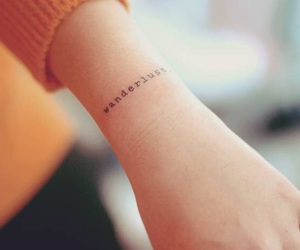 tattoo, wanderlust, and minimalist image