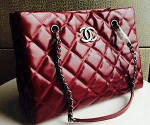 bag, chanel bag, and red image