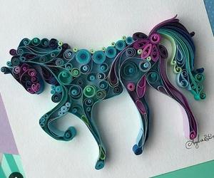 unicorn, art, and horse image