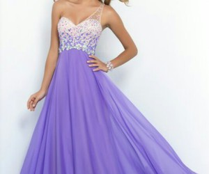 dress, prom dress, and purple image
