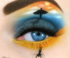 art, eye, and makeup image