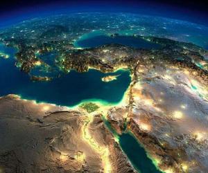 egypt, lights, and travel image