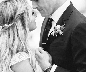 ashley tisdale, wedding, and black and white image
