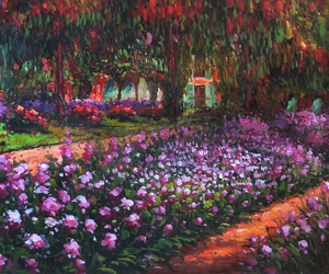 art, flowers, and impressionism image