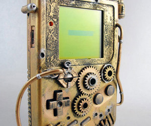 steampunk and gameboy image