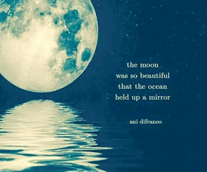 quotes, moon, and mirror image