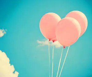 pink, sky, and balloons image