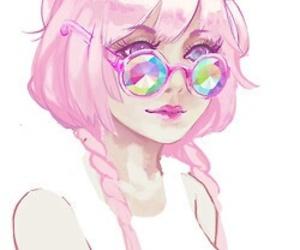 pink, art, and anime image