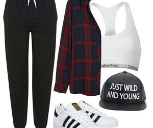 adidas, Polyvore, and ootd image