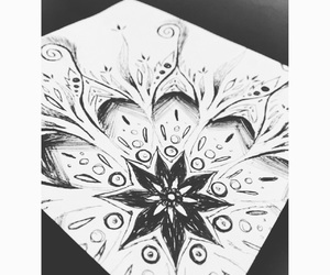 art, black and white, and designs image