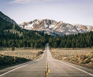 mountains, road, and nature image
